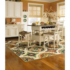 Shaw Living Chromatic Ivory 7 ft. 9 in. x 10 ft. 3 in. Area Rug-3UA9379100 at The Home Depot  For the dining room?