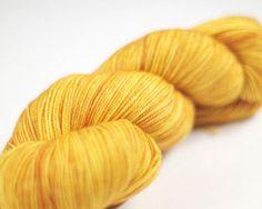 Hazel Knits sock yarn in Hoppy Blonde.