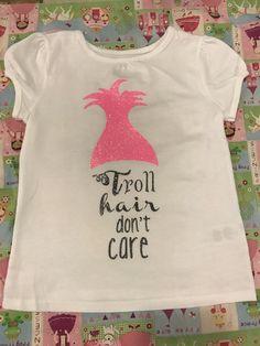 Troll hair don't care toddler shirt
