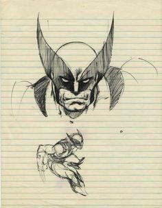 Wolverine sketches by John Byrne Comic Book Pages, Comic Book Artists, Comic Artist, Comic Books Art, Old Man Wolverine, Marvel Comics, Man Sketch, John Byrne, Manga Drawing