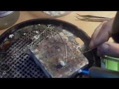паяние серебрянной цепочки