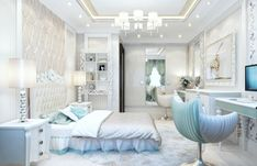 Exclusive Homes, Kids Room Design, Luxurious Bedrooms, Girls Bedroom, Bedroom Ideas, Villa, House Design, Interior Design, Luxury
