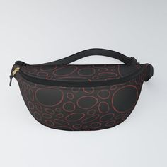 Organic - Red & Black Fanny Pack by laec | Society6
