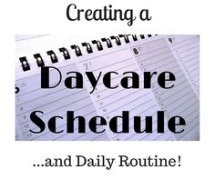 Daycare Schedule and Daily Routine - Home Daycare Resource