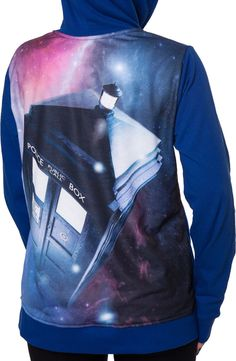 Ladies Doctor Who Zip Up Hoodie: Non 80s TV Shows: Doctor Who