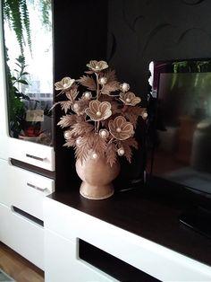 Jute Flowers, Burlap Crafts, Wire Art, Clever, Projects To Try, Diy, House, Ideas, Desk Arrangements
