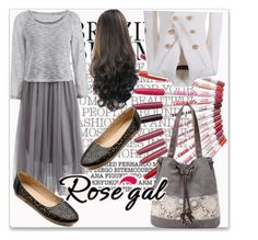"""""""Rosegal 24"""" by samra-bv ❤ liked on Polyvore featuring Balmain, floralbag and rosegalbeauty"""