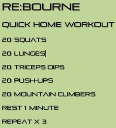Here's a very simple and quick workout that can be done anywhere!