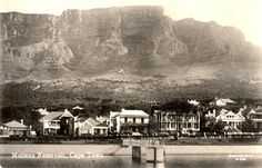 Oranjezicht Belvidere Ave across the reservoir Old Photos, Vintage Photos, Beach Buggy, Nordic Walking, Inner World, African History, Cape Town, South Africa, Landscape Photography