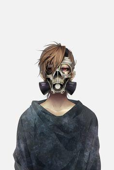 Boy,Anime,Masquerade,red eyes,