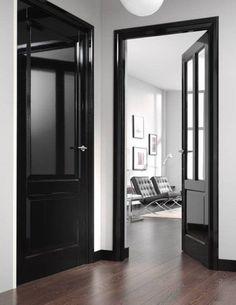 Design Inspiration | black molding, white walls — The Decorista