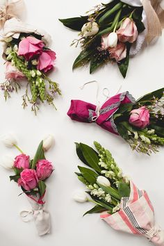 Mini floral bouquet tutorial for your best friends and girlfriends on Valentine's Day. Each flower arrangement is super affordable because the flowers are from Trader Joe's (or any grocery store).