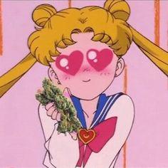 omg so Cute Sailor Moons, Sailor Moon Funny, Sailor Moon Quotes, Aesthetic Drawing, Pink Aesthetic, Overlays, Pinturas Disney, Marijuana Art, Stoner Art