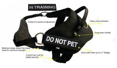 Redline K9 SMALL Dual Purpose Dog Harness - Tracking and Protection Girth 27'-33' With 1 'DO NOT PET' and 1 'IN TRAINING' Embroidered badges ** Continue to the product at the image link. (This is an affiliate link and I receive a commission for the sales)