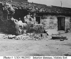 Interior damage. Malate Fort