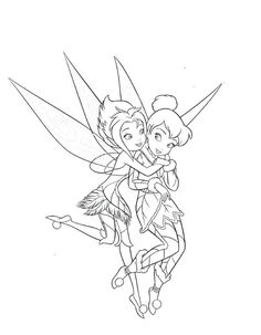 tinkerbell friends printable coloring pages | tinker bell color pages printable | Tinkerbell Coloring ...
