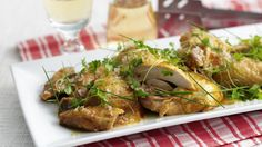 This Roast Chicken a la Vinaigrette Recipe from Marco Pierre White will make for a great roast and a great summer chicken salad. Gourmet Chicken, Roast Chicken, Easy Chicken Recipes, Marco Pierre White, Summer Chicken, Basil Chicken, Meal Planner, Dinner Tonight, Food Network Recipes