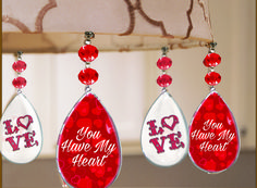 Add INSTANT Valentines Day sparkle to home decor with Light Charms/Magtrim MAGNETIC Ornaments!  DIY Valentines Decorating at its best!