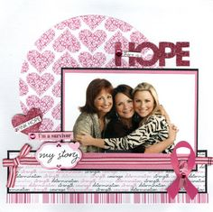 Scrapbook page--what a great idea for us at the Women's Meeting!