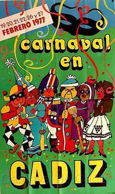 Cartel Carnaval de Cadiz año 1977