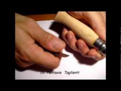 Personalizzazione di due coltelli Opinel n. 9 - Opinel knive custom