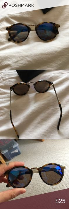 Madewell sunglasses Madewell sunglasses. Tortoise frame and blue reflective lenses. Hardly been worn. Madewell Accessories Glasses
