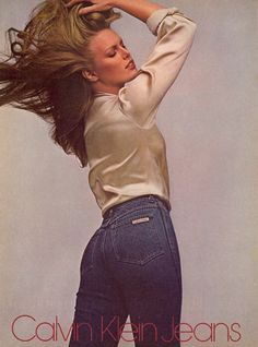 Patti Hansen for Calvin Klein Jeans, 1979.