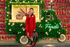 Check out the opening event of our NEW whimsical, imaginative Fendi Flowerland pop-up shop at Hong Kong's Times square shopping center. Open now til May 22nd.