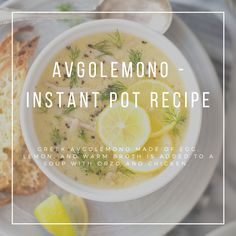 Traditional avgolemono is a Greek sauce made of lemon, egg, and warm broth. In this case, the sauce is added to a chicken soup and the result is what's most commonly referred to as Avgolemono. This is the instant pot version. Lemon Chicken Rice Soup, Lemon Chicken Orzo Soup, Greek Lemon Rice Soup, Instant Pot, Avgolemono Soup, Dinner Recipes Easy Quick, Soup Recipes, Adele, Greek Sauce