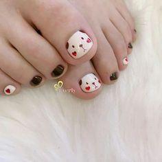 Pretty Toe Nails, Cute Toe Nails, Cute Nail Art, Nails For Kids, Girls Nails, Toe Nail Designs, Acrylic Nail Designs, Santa Nails, May Nails