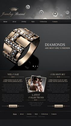 Template 42278 - Jewelry Brand Facebook HTML CMS Template