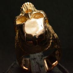 Mid Size Half Jaw • 14k Rose | Yellow Gold • Skull Ring •