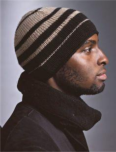 men's striped knit hat pattern - link doesn't work, but I like the stripes