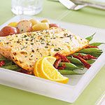 Rainbow Trout with Dijon Mayonnaise—Try this healthy supper solution -- ready in 15 minutes -- from our monthly Make It Tonight collection of rush hour recipes. Rainbow Trout Recipes, Fish Recipes, Crock Pot Slow Cooker, Crock Pot Cooking, Cooking Tips, Pozole, Achiote, Dessert Pizza, Fish Dishes
