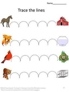 Develop Fine Motor Skill with Tracing Activities - Animal Unit Motor Skills Activities, Educational Activities, Fine Motor Skills, Learning Activities, Kids Learning, Tracing Worksheets, Preschool Worksheets, Pre Writing, Special Education