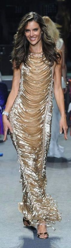 silver and gold shimmer gown