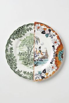 Anthropologie Unlikely Symmetry Dinnerware #anthroregistry #anthropologie