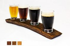 The Original Beer Flight Oak Barrel Taster