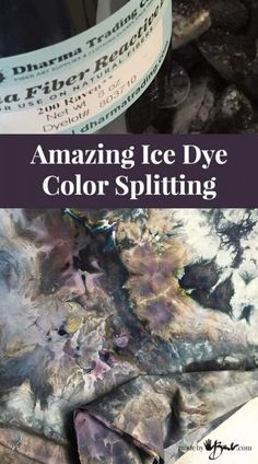 Mankind has always had a love affair with colour and design! You can't imagine how easy this is; just magic. Make your own incredibly amazing Ice Dye Color Splitting!