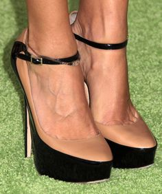 Amazing jimmy choo nude/black heels. LOVE!
