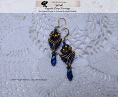 Peyote Beading Pattern and Tutorial Pagoda Drop by LadyAbeada Peyote Beading Patterns, Herringbone Stitch, Earring Tutorial, Sell Items, Step By Step Instructions, Seed Beads, My Etsy Shop, Drop Earrings, Fiber