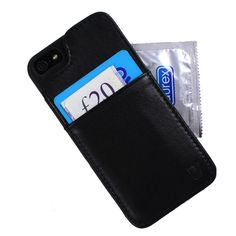 Leather Wallet Case for your iPhone - Never forget your essentials :)