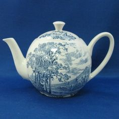 Wedgwood Countryside Blue teapot