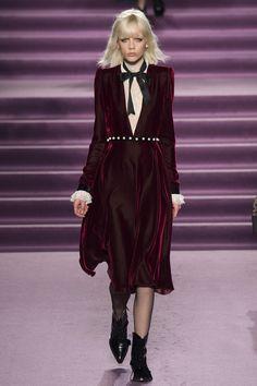 The purple velvet dress at Philosophy di Lorenzo Serafini Fall/Winter 2016-2017