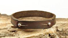 LIVRAISON gratuite - bracelet homme, bracelet homme en cuir, bracelet en cuir pour hommes, Bracelet en cuir brun