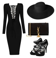 """Star. "" by marynn-rlle on Polyvore featuring mode, Yves Saint Laurent et Dorfman Pacific"