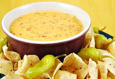 Mexican Cheese Dip (Maybe use small crockpot for plain velveeta for kids)