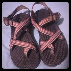 Women's Chacos Size 8 Excellent condition brown and pink Chacos.  Very little to almost no signs of wear.  For sale or trade for a pair of new or like new 7's. Chacos Shoes Sandals