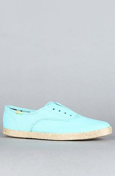 The Champion Laceless CVO Jute Sneaker in Aqua by Keds      Tiffany Blue!!!!