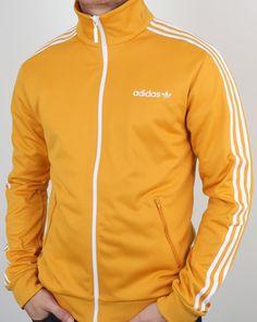 3adf2435c Adidas Originals Beckenbauer Track Top old skool Yellow Adidas Tracksuit  Mens, Adidas Sportswear, Tracksuit